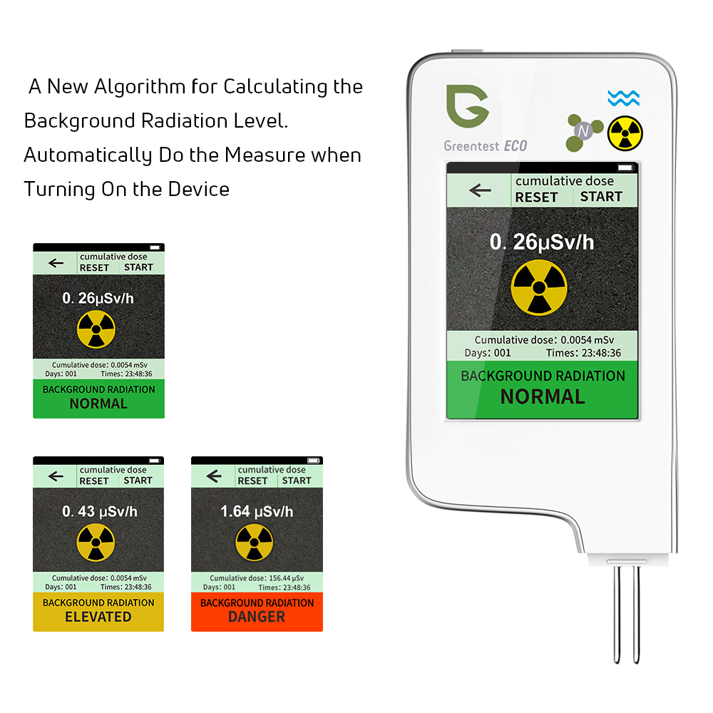 Nitrate  Testing  For TesterRadiation IN 3 Home Greentest Test Water Food Hardness Digital 1 Detector 5F ECO TDS