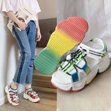 Luxury Women Designers Red Blue Platform Woman Sandals 2020 Summer Jelly Shoes Size 35-39 eiswelt 2017 new women sandals sweet bowtie flat shoes woman summer jelly shoes 4 colors size 35 39 dzw23