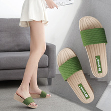 Wedges Slippers Summer Sandals Women Shoes Indoor Middle-Heel Slides No Soft-Sole Thick