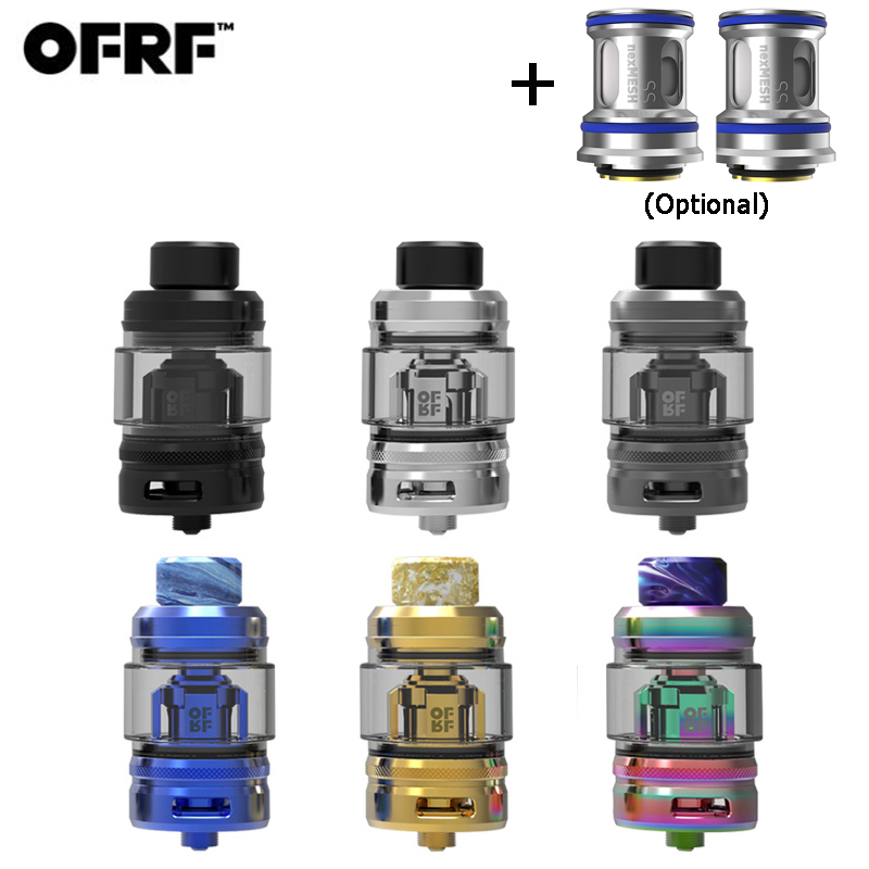 Original OFRF nexMESH SubOhm Tank 5.5ml E Cigarette Atomizer 25mm Double Vapor Compression System Conical Mesh Coil Tank Vape-in Electronic Cigarette Atomizers from Consumer Electronics    1