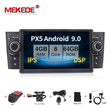 MEKEDE Android9.0 Car Multimedia player for Fiat/Grande/Punto/Linea 2007-2012 Radio FM steering BT WIFI 3g ipod