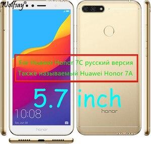 Image 5 - Vidrio Protector para Huawei Honor 7C vidrio templado Honor 7C versión rusa AUM L41 Protector de pantalla para Huawei Honor 7C vidrio