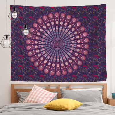 Black Wall Cloths Wall Hanging Beach Towel Polyester Fiber Tapestry Wall 95x73cm Large