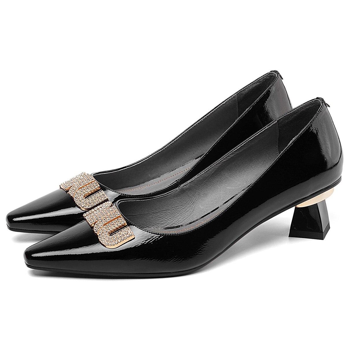 4 couleurs grande taille 41 femmes véritable leatherr sans lacet pompes à talons bas confortables femmes robe pompes chaussures à talons hauts pour les femmes