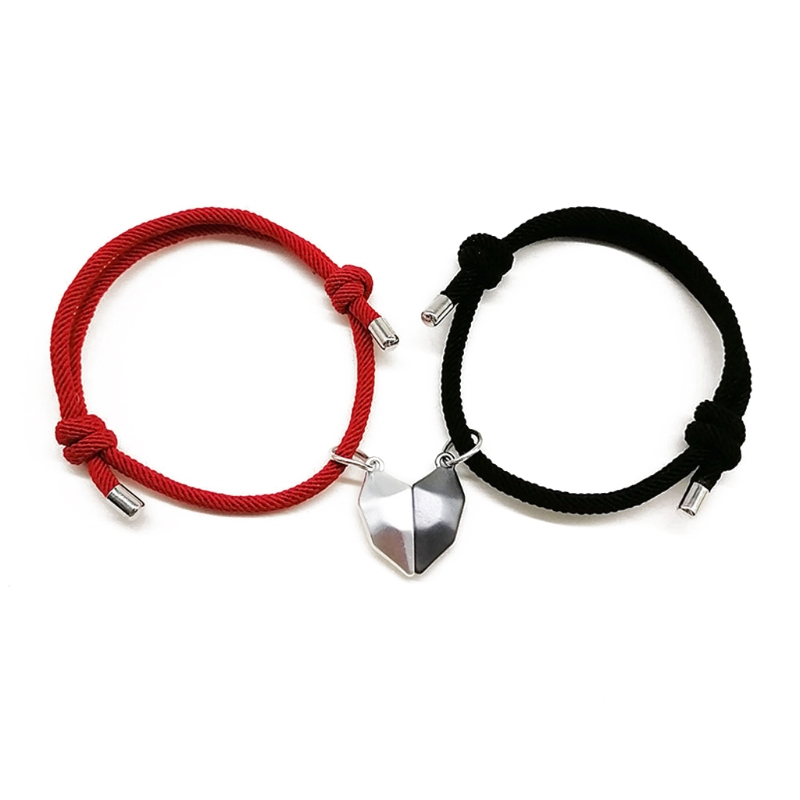 Magnetic-Heart-Couple-Bracelet