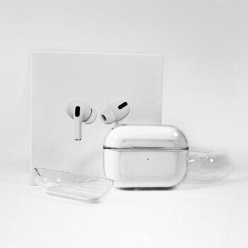 Funda protectora para auriculares inalámbricos Bluetooth, carcasa rígida transparente para Airpods 3 Pro