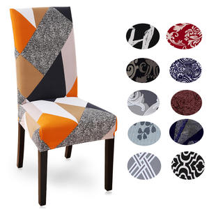 Stretch-Seat-Chair-Covers Slipcovers Spandex Printed Dining-Room Elastic Wedding Banquet