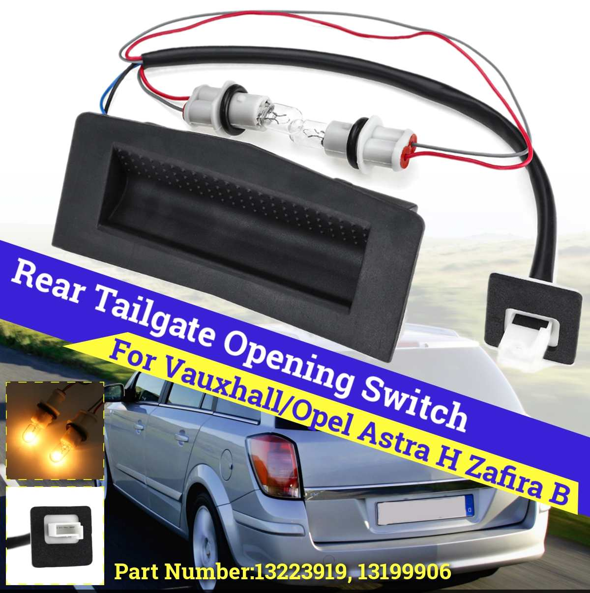 Hatch Boot Button 2005 to 2010 Vauxhall Zafira B Tailgate Release Switch