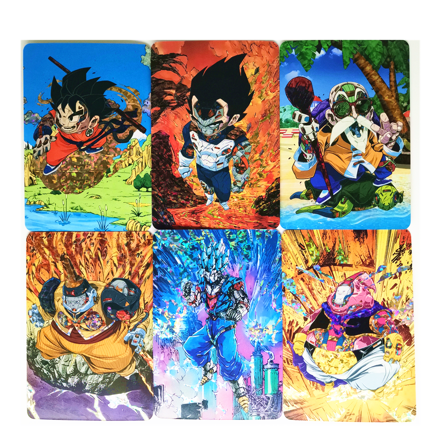 9pcs/set Super Dragon Ball Z Q Machinery Heroes Battle Card Ultra Instinct Goku Vegeta Game Collection Cards