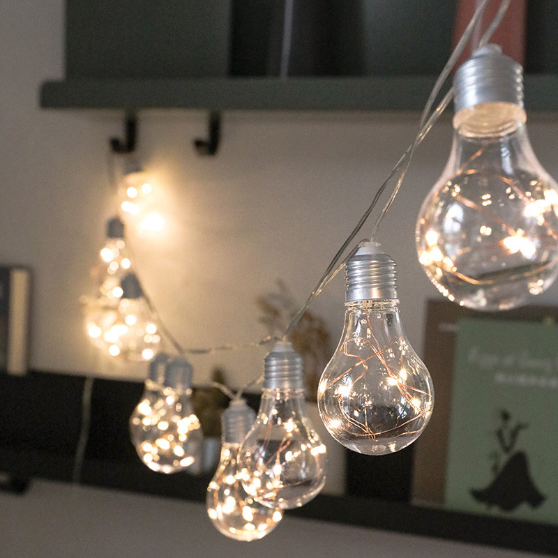 4M 10 Bulbs LED Fairy Lights Battery Power Bulb Garland Light String Christmas Wedding Party Bedroom Living Room Garden Decor