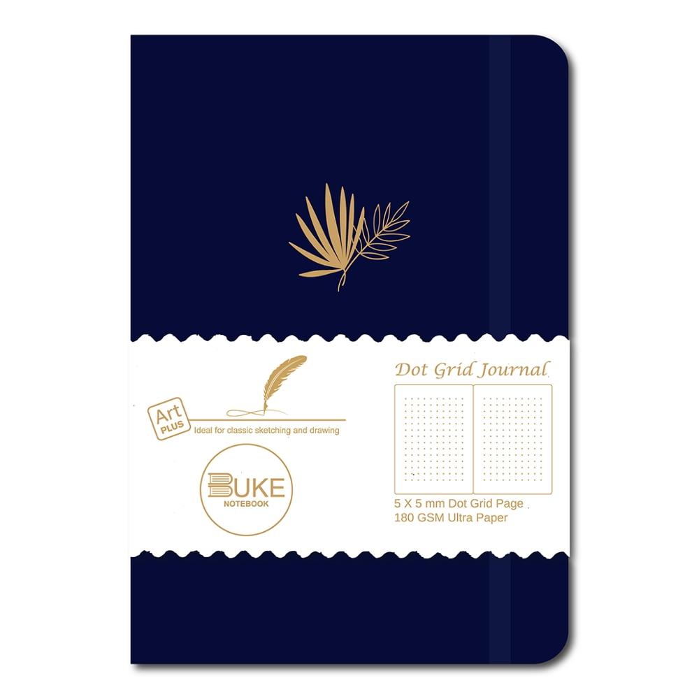 BUKE Dot Grid Journal точечный блокнот 5*5 мм Dots 160 страниц, размер 5.7X8.2 дюйма, 180 ГСМ Ультра толстая бамбуковая бумага DIY Bujo Planner