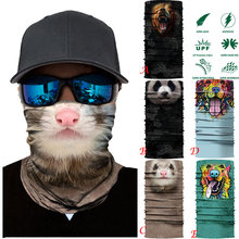Cycling Motorcycle Head Scarf Neck Warmer Face Mask Ski Balaclava Headband Cat Panda(China)
