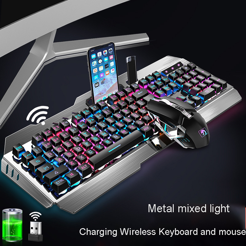 chargeable Wireless bluetooth Mechanical Keyboard Switch Gaming Keyboard Detachable Cable WCG Gaming Keyboard Free mouse|Tablet Keyboards|Computer & Office - title=