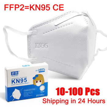 10-100 Pcs FFP2 KN95 Children's Masks 95% Filtration Reusable Anti Flu Protective Face Mask 3-15 Years Old Kids Mask Mascarillas