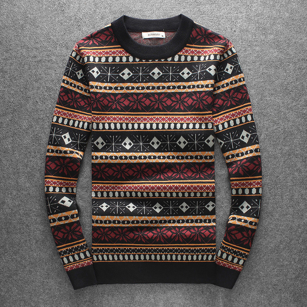New 2019 Men Luxury Vintage Hot Flowers Stripes Embroidered Casual Sweaters Pullover Asian Plug Size High Quality Drake #N175