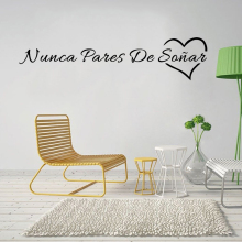 Modern Spanish Never stop Dreams phrases Wall Stickers Wall Art Decor For Office School Company Living Room wall paper