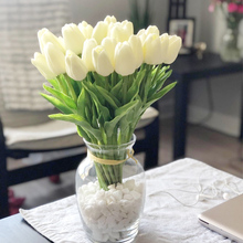 Artificial Fake Tulips Real-Touch Flowers Bouquet Wedding-Decoration Party-Decor Christmas