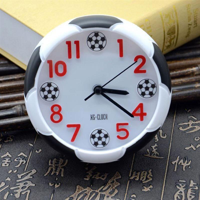 Bola de futebol decorativa em forma de relógio, para uso ao ar livre, acampamento, cama, quarto, aniversário, futebol, presentes