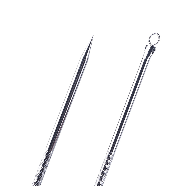 1PC Stainless Steel Whitehead Blackhead Acne Clips Pimple  Remover Face Cleaner Needles Tool Extractor Remover For Face Care 3