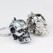 Punk The Terminator Skull Head Keychain Heavy Metal Cool Mens Pendant Key Chains For Keys Car Keyring Bag Jewelry