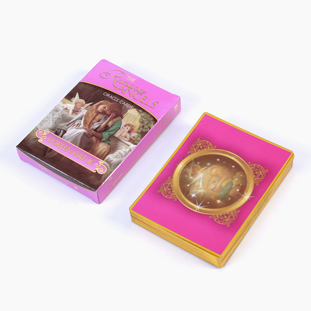 English Romance Angel Cards 44 Cards Tarot Card Lovers Gift Traditional Card Game With Online Guidebook Board Games image