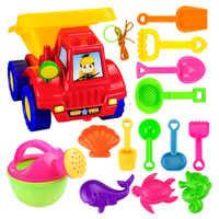 14 шт./компл. летние детские пляжные игрушки детский набор пляжных игрушек, Atv, чайник, лопата для снега и Другое наборы игрушечных конструкто...