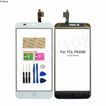 Mobile Touch Screen For TCL P620M Touch Screen Glass Digitizer Panel Lens Sensor Tools 3M Glue Wipes