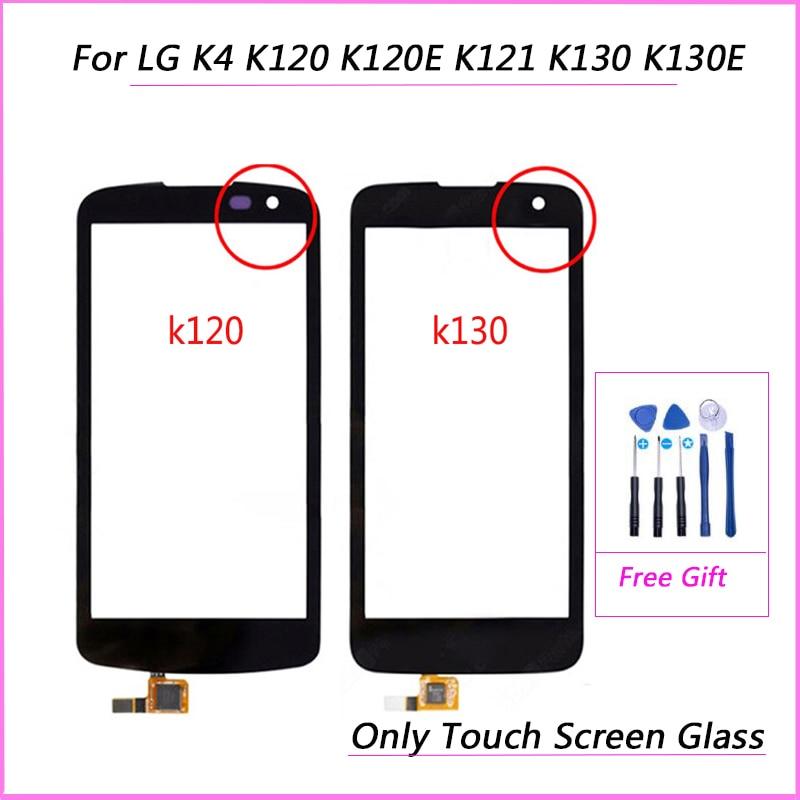 Сенсорное стекло для LG K4 K120 K120E K121 K130 K130E, дигитайзер сенсорного экрана, замена панели переднего стекла объектива (без ЖК-дисплея)
