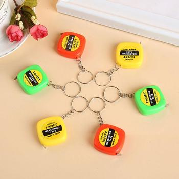 Retractable Tape Measure Ruler Height Easy Retractable Tape Measure Mini Portable Ruler Ruler Keychain Pull Color Random E6Y0 image