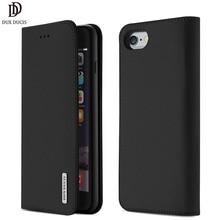 Чехол-Кошелек DUX DUCIS из натуральной кожи для iPhone 8, 7, Xs, винтажная Магнитная откидная крышка для iPhone Xs Max, XR, X, 7, 8, 6s, 6 Plus, чехол
