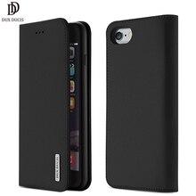 DUX DUCIS Echtem Leder Brieftasche Fall für iPhone 8 7 Xs Vintage Magnetischen Flip Abdeckung für iPhone Xs Max XR X 7 8 6s 6 Plus Coque