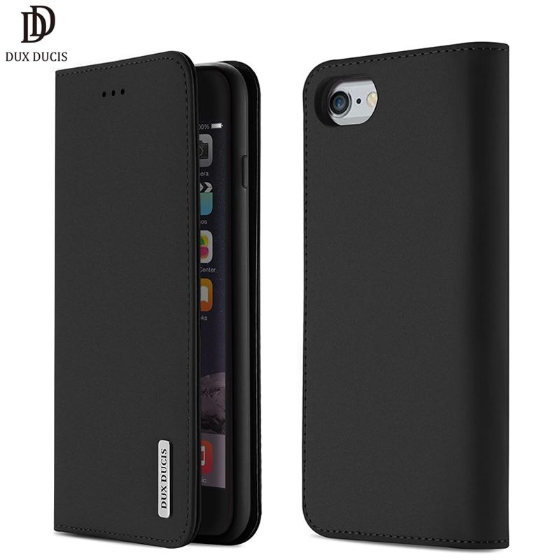 DUX DUCIS Чехол кошелек из натуральной кожи для iPhone 8 7 Xs винтажный Магнитный флип чехол для iPhone Xs Max XR X 7 8 6s 6 Plus Coque-in Чехлы-портмоне from Мобильные телефоны и телекоммуникации