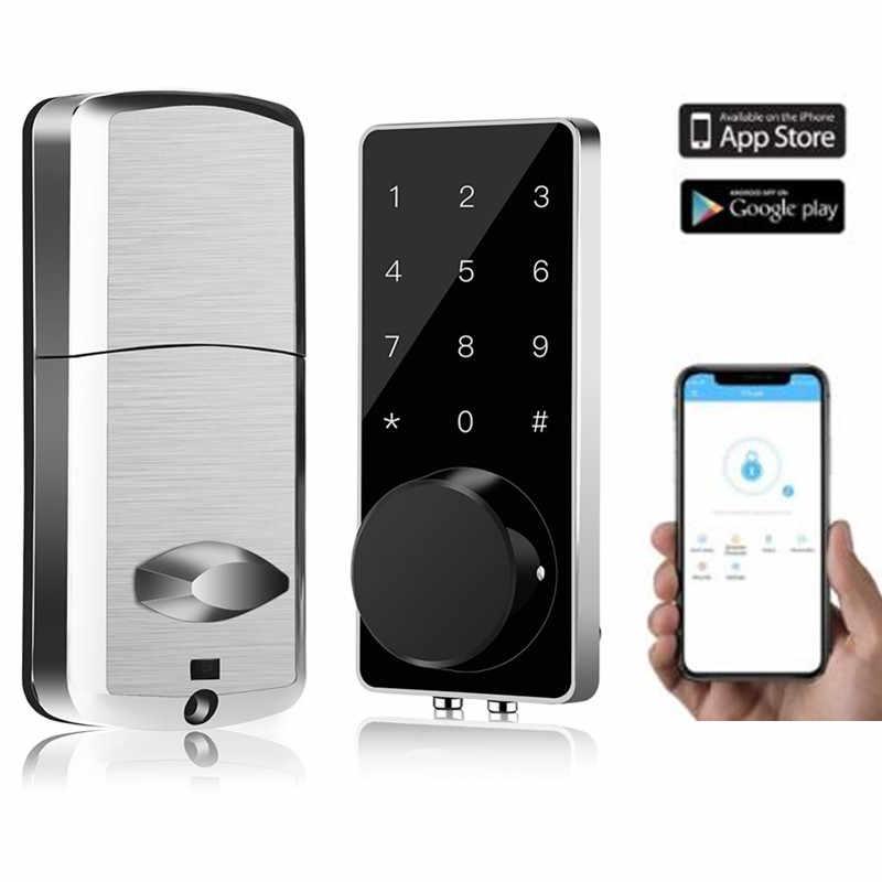 قفل ذكي بدون مفتاح دخول الباب قفل ديدبولت الرقمية الإلكترونية بلوتوث قفل الباب مع لوحة المفاتيح السيارات قفل للمنزل