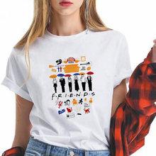 Чехол с рисунком из ТВ шоу друзья для женщин футболка Летняя