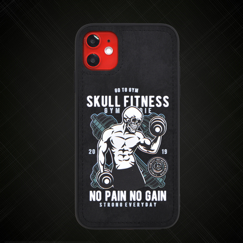 Original design Skull fitness Fabric phone Case For iPhone 11 Pro XS XR MAX 7 8 6 Plus Soft cloth Hard Back cover Magnetic case Lahore