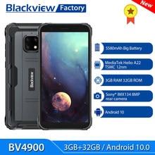 Blackview-teléfono inteligente BV4900, 3GB + 32GB, 5580mAh, resistente al agua IP68, Android 10, 5,7 pulgadas, NFC