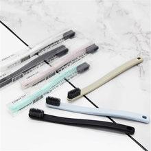 Brosse à dents en charbon de bambou Ultra fin, 7 couleurs en option, pour la santé buccale, poils souples, haute densité, pour adultes