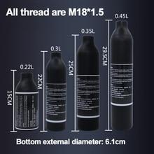 ペイントボールエアガン pcp 空気タンク登山ダイビングシリンダー 4500psi30MPA 0.2 0.35 0.45L hpa 高圧縮空気ボトル M18 * 1.5