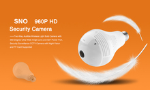 SNOSECURE 360 degree 960P Wireless IP Camera Bulb Light FishEye Smart Wireless CCTV Camera 1.3&2.0MP Panoramic Security WiFi Cam