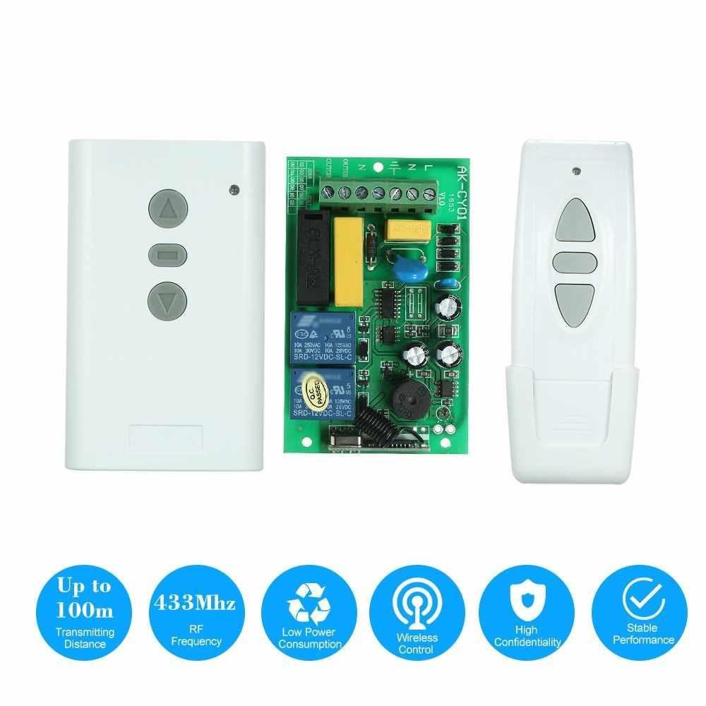 AC 220V 2CH 433MHz อัจฉริยะระบบ RF Wireless REMOTE CONTROL Switch ชุด
