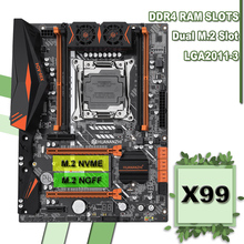 HUANANZHI X99-AD4 LGA2011-3 Motherboard with DUAL M.2 NVMe NGFF SSD Slot 4 DDR4 DIMM Buy Computer Hardware 2 Years Warranty