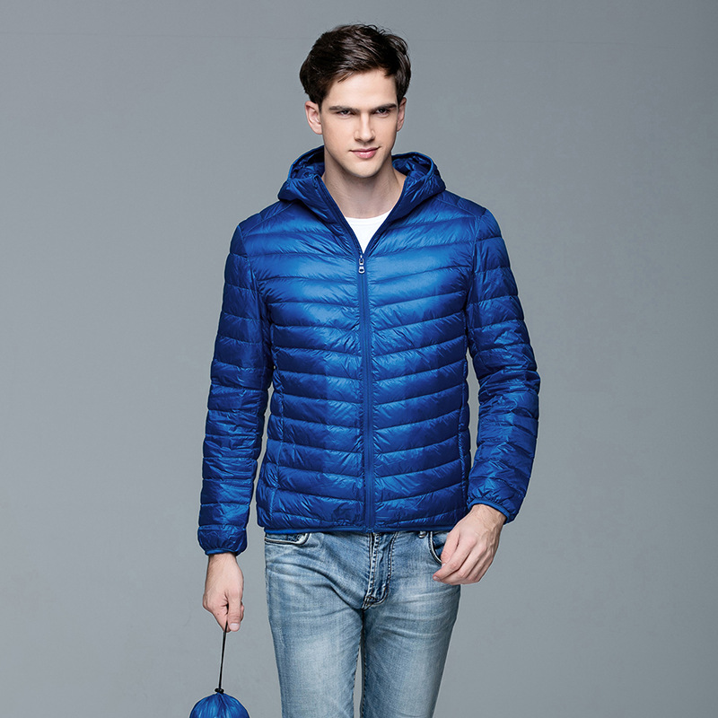 Winter Warm Duck Feather Down Jacket For Men Streetwear Hip Hop Warm Hooded Coat Windbreak Feather Jackets