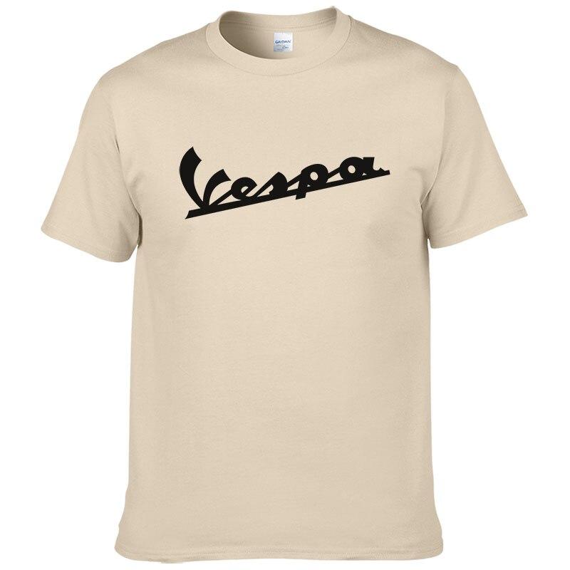 Vespa Vespa T Shirt Homens 2019 Lazer Camiseta Divertida 100% Algodón de Verano de Manga Corta Cuello Redondo Camisetas Masculino