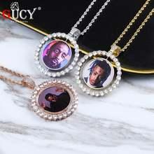 Gucy индивидуальный заказ фото Вращающийся Двухсторонний Медальоны