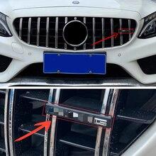 עבור מרצדס בנץ AMG W212 W202 W211 W210 W205 CLA CLS GT גדול G G63 GTR T צורת גריל מדבקת קדמי גריל סמל תג