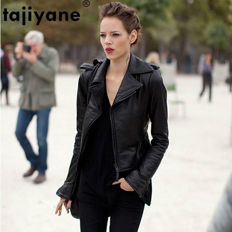 Women's Fur Coat Real Genuine Leather Jacket Women Clothes 2019 Korean Vintage Spring Autumn Sheepskin Coat Plus Size ZT2331