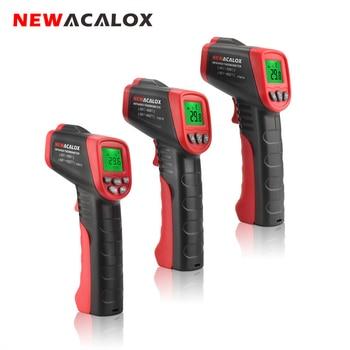 NEWACALOX Pantalla LCD per infrarojos Termòmetre digital Tester de temperatura sense contacte Eines industrials de prova de tempòmetre IR