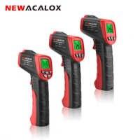 NEWACALOX infrarouge LCD affichage thermomètre numérique sans contact testeur de température industriel IR Laser Point pistolet Test de température-outil