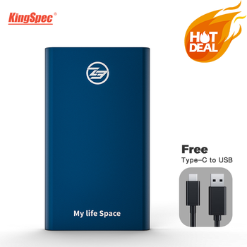 KingSpec External SSD 512GB Blue Portable SSD 2TB Hard Drive 128GB 1TB SSD Type-C USB3.1 Solid State Disk  USB3.0 for laptop OS sale kingspec 1 8 ssd ata7 zif 2 ce hd ssd 128gb 128 solid state drive ssd 120gb hard drive for sony for dell for hp