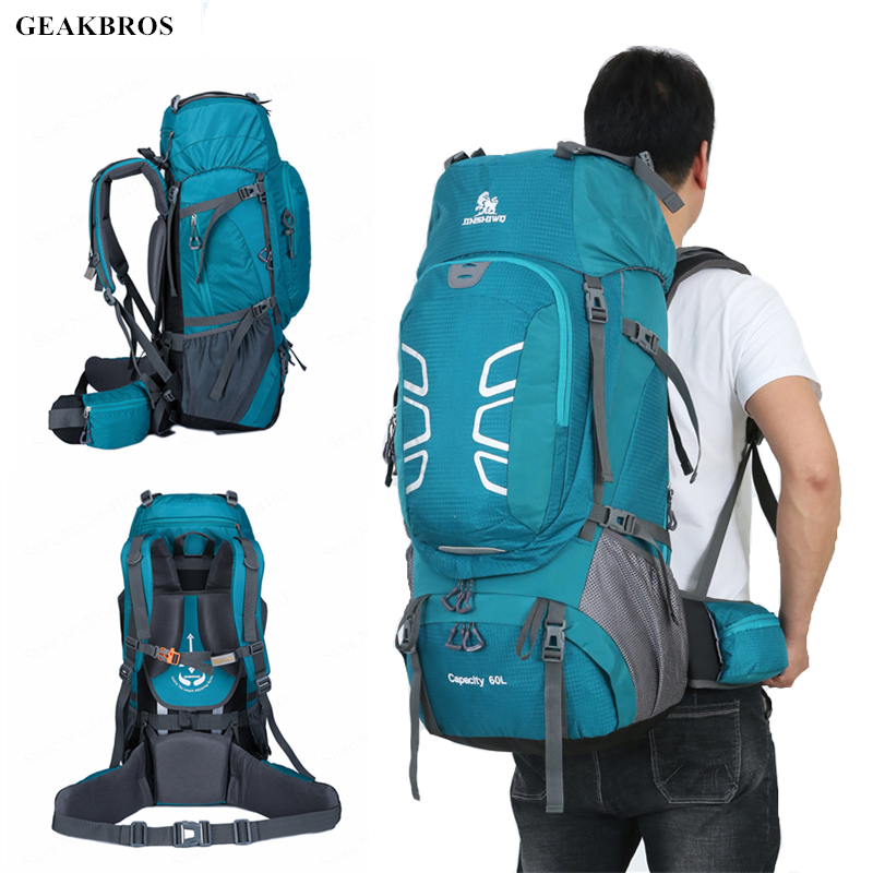 50/60L Outdoor Sports Bag Waterproof Climbing Hiking Backpack Women&Men Camping Mountaineering Backpack Bike Travel Fishing Bags